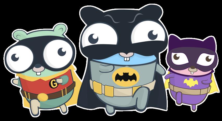 Gophers, https://github.com/egonelbre/gophers/blob/master/vector/superhero/gotham.svg